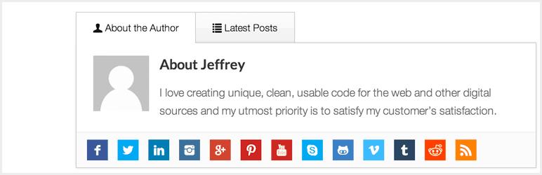 WP Author Box Lite WordPress Plugin