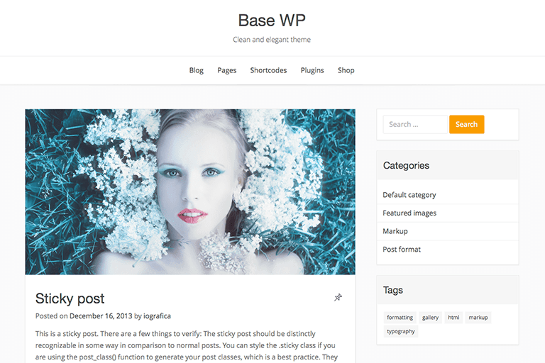 Base WP WordPress Theme