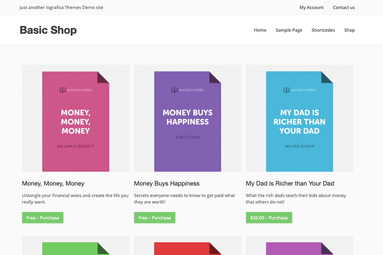 Basic Shop WordPress Theme