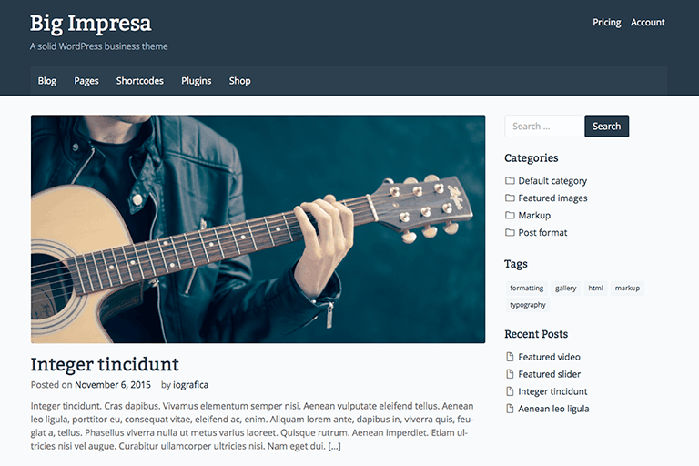 Big Impresa WordPress Theme