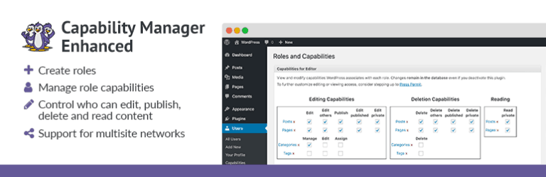 Capability Manager Enhanced WordPress Plugin